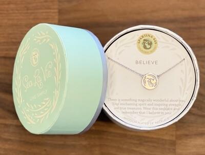 """Spartina Sea La Vie Necklace 18"""" Believe/Mermaid Silver"""