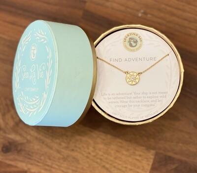 "Spartina Sea La Vie Necklace 18"" Adventure/Compass Gold"