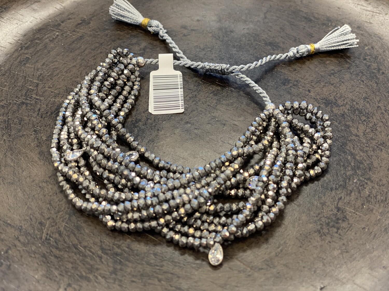 12 strand Swarovski crystal bracelet in silver