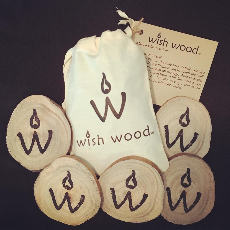 Wish Wood Black Tie Bag