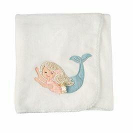 Mud Pie Mermaid Fleece Blanket