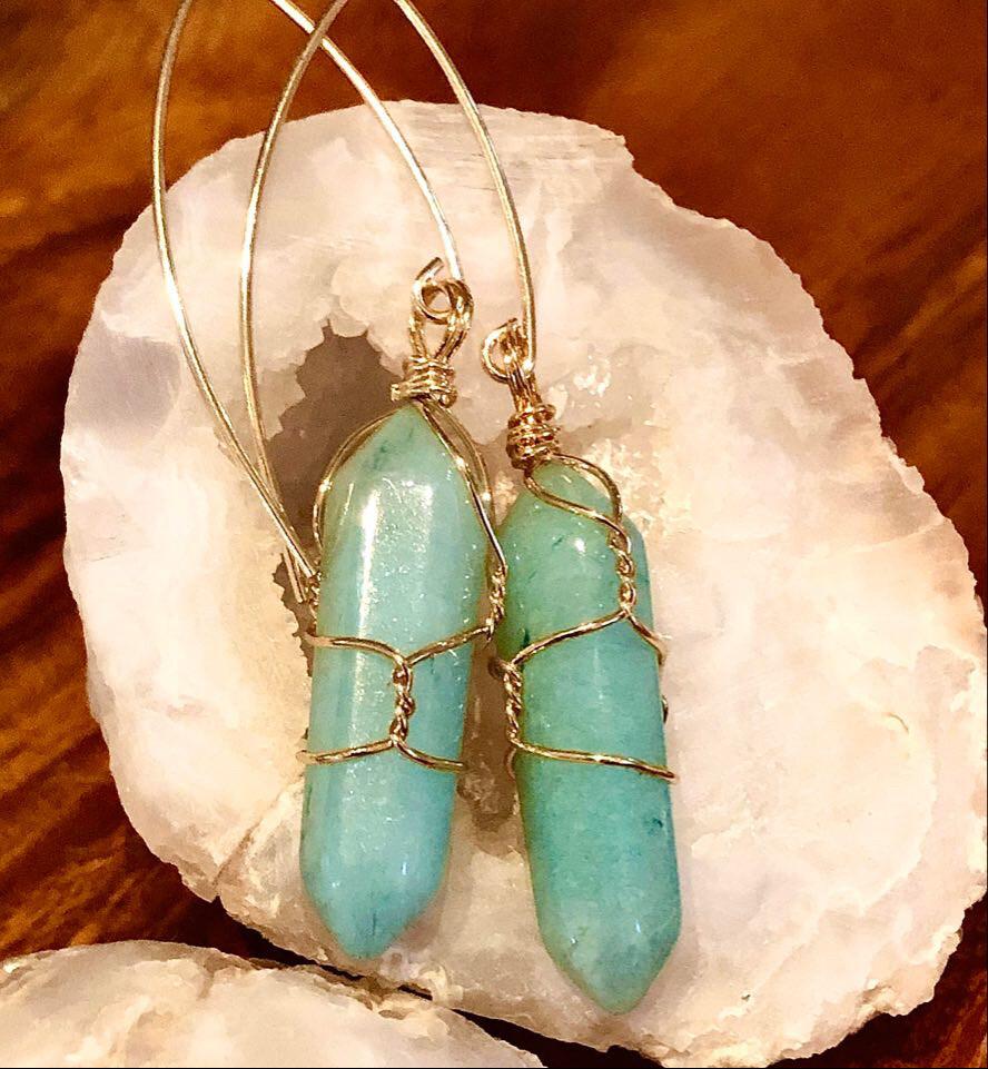 WL Amazonite Gemstone Earring