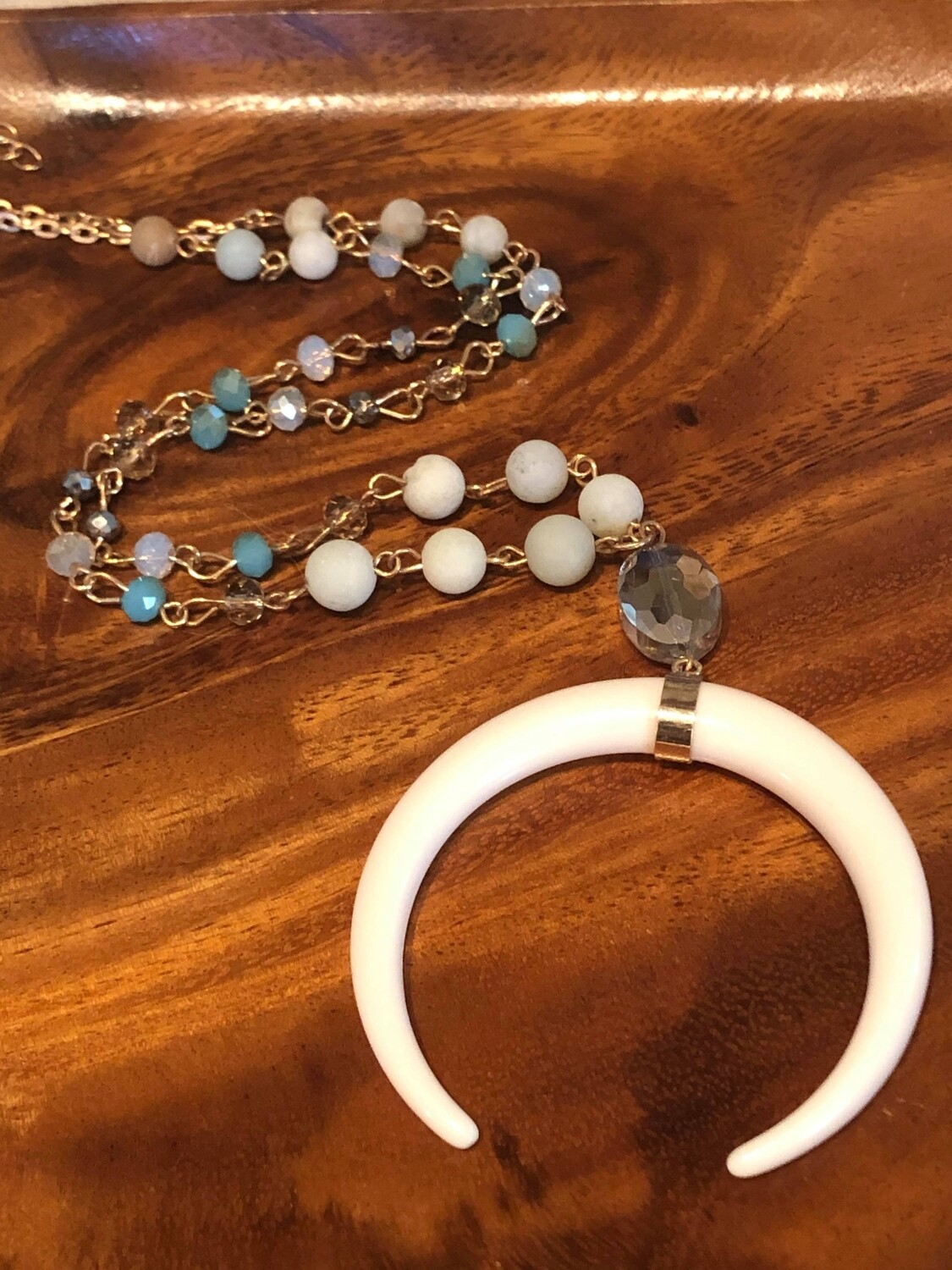 WL Amazonite and Crystal Necklace