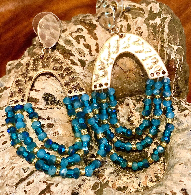 WL Turquoise Seed Bead Earrings