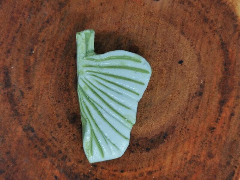 Green Leaf Brooch