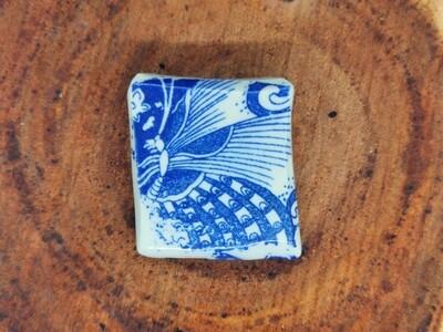 Blue Butterfly Brooch