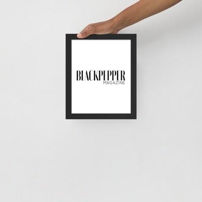 Framed BP poster