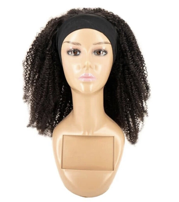 Afro Kinky Curly Headband Wig