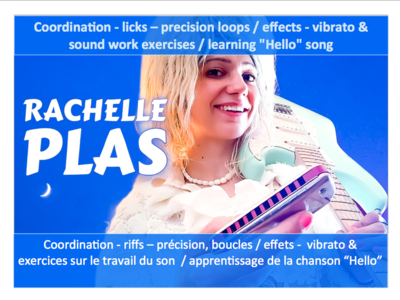 VIDEO (31') - Coordination, Licks, Precision loops, Effets, Vibrato, Sound Work, Travail du Son - Exercices / learn