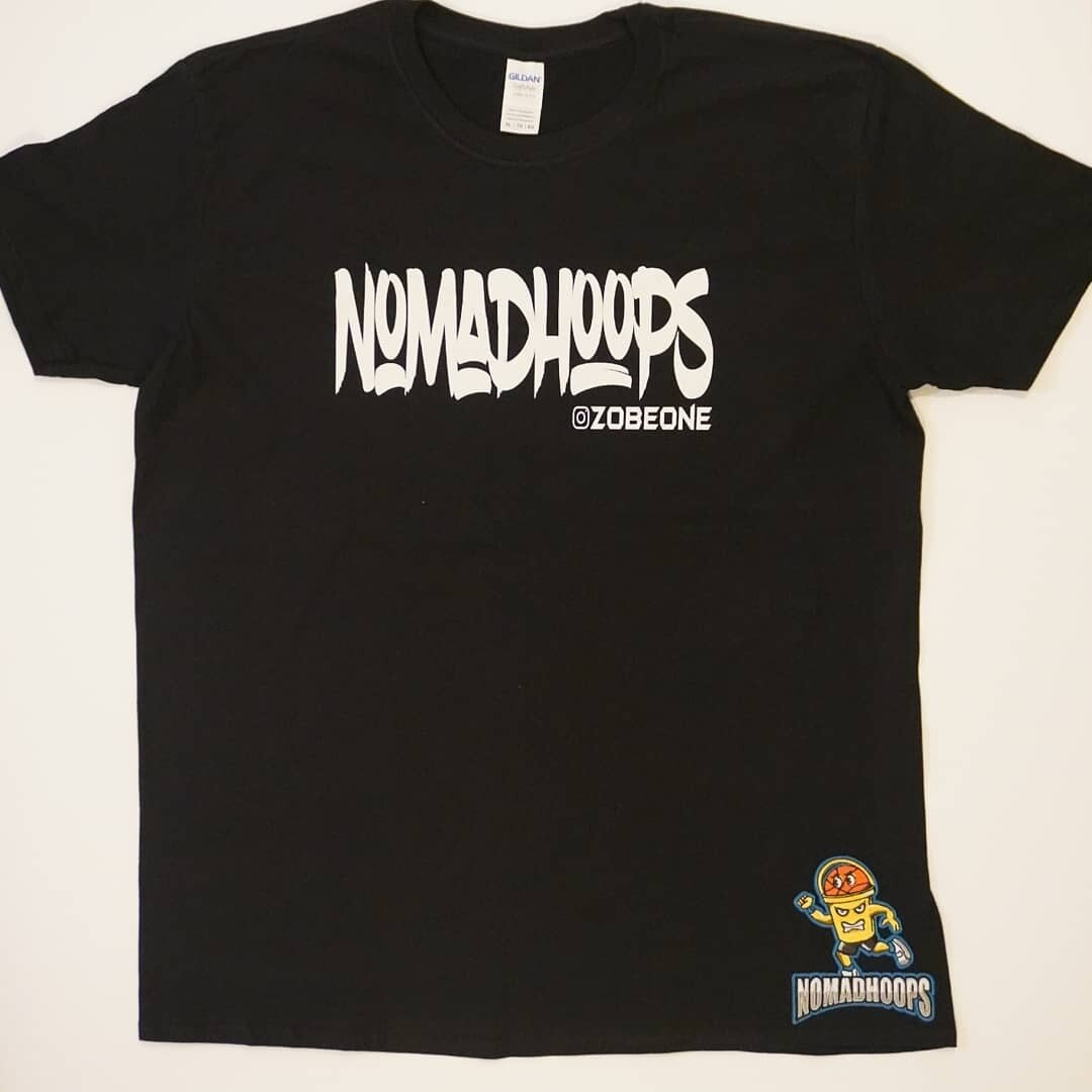 Black Nomadhoops All Day Tee w/ Embroidered