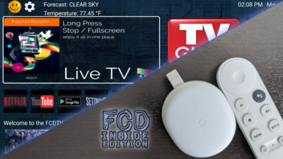 FCD Edition Chromecast Device (USA Shipping Only)