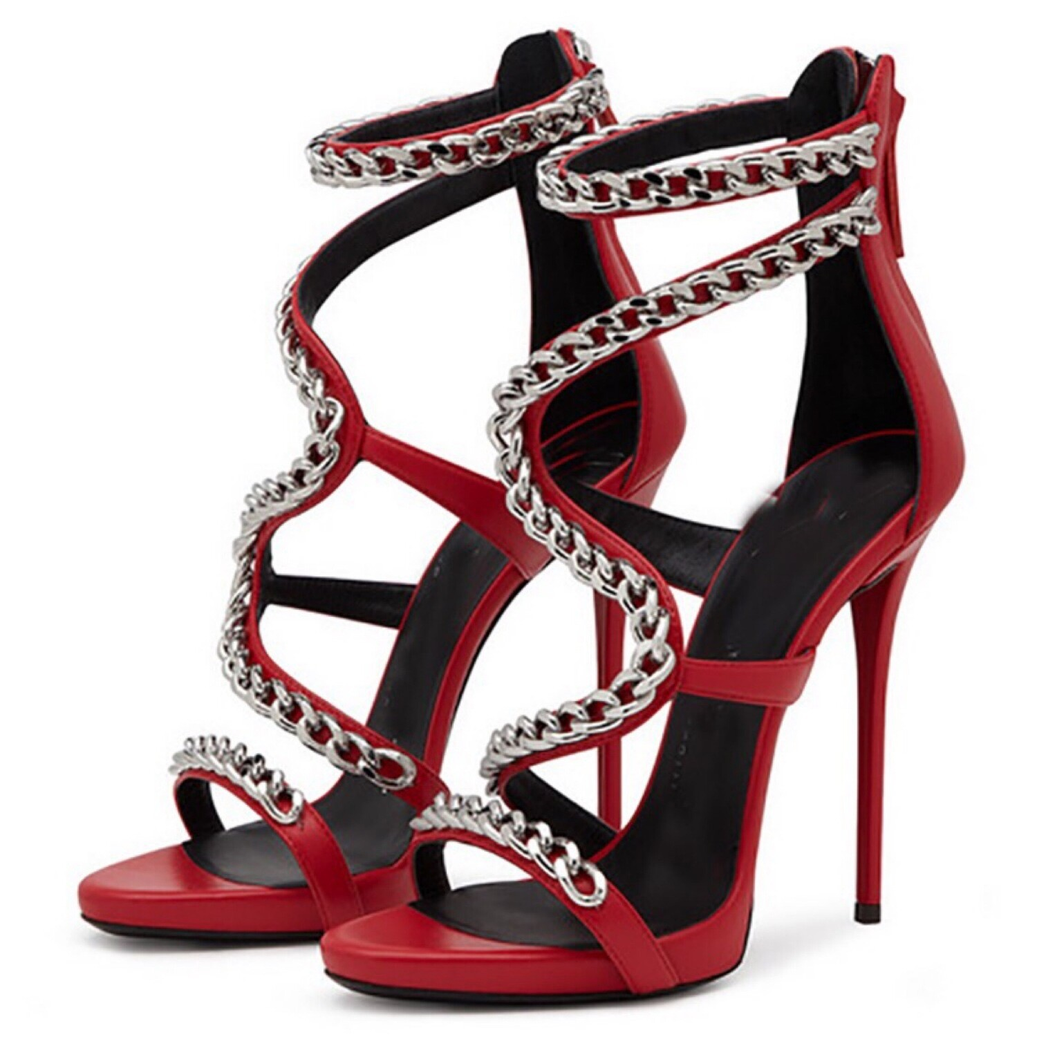 Red Chain High Heels