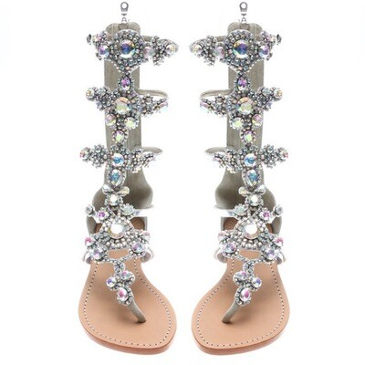 Luxury Diamond Flat Sandals