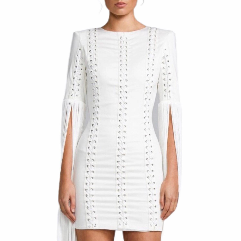Tassels Bandage Backless Dress