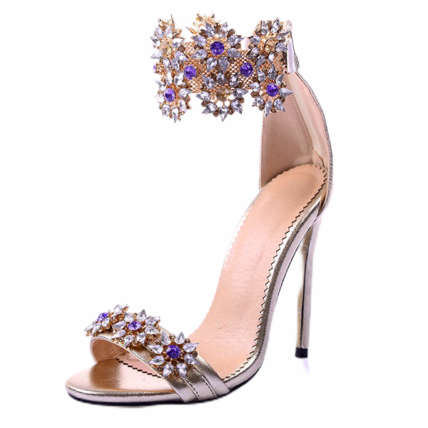Fashion Glitter Metallic Sandals