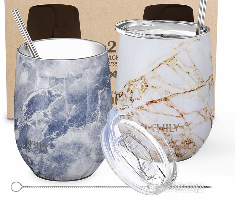 Marble Double-Walled Vacuum Insulated Tumbler