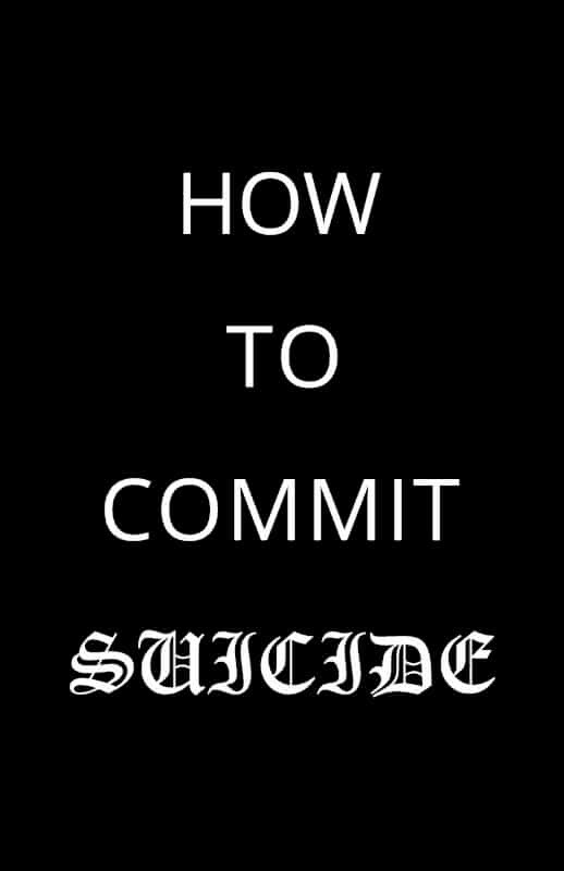 How to Commit Suicide (Print)