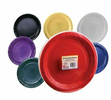 "9"" Paper Plates - Assorted Colours"