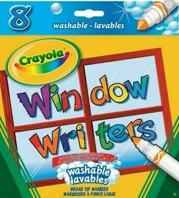 Crayola Window Writers Washable Markers, 8 Count
