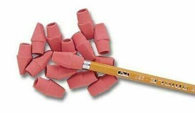 Pink Pearl Pencil Cap Erasers