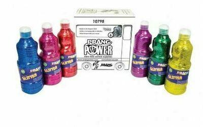 Prang Washable Glitter Paint, Set of 6