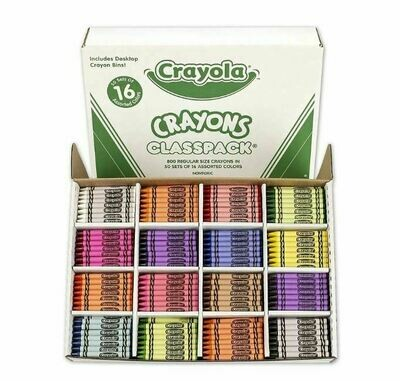 Crayon Classpack, 800 Count 16 Colours