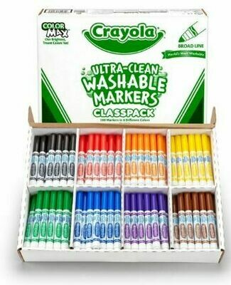 Crayola Ultra Clean Washable Markers Classpack