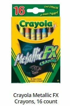Crayola Metallic FX Crayons, 16 Count