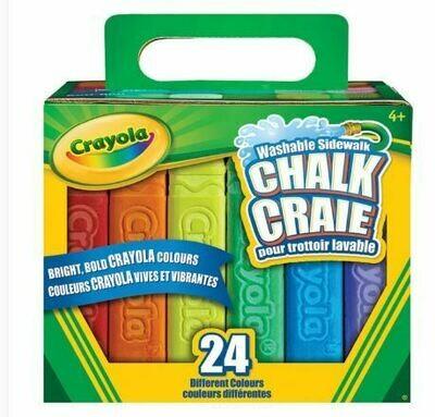 Crayola Sidewalk Chalk - 24 Pieces