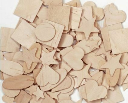 Flat Wooden Shapes