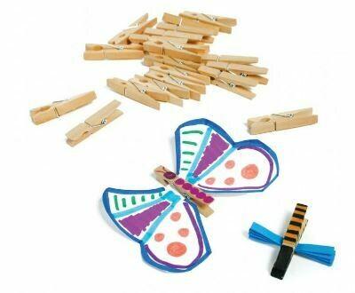 Mini Wooden Clothes Pins