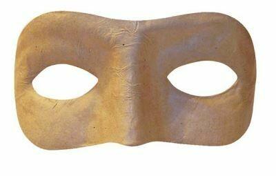 Papier Mache 1/2 Mask