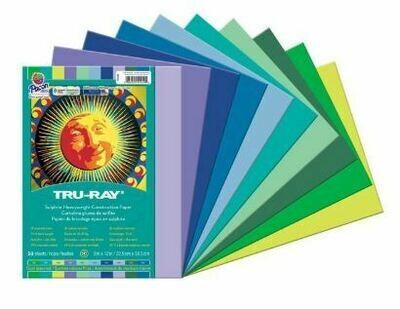 Tru-Ray Construction Paper - Cool Assortment