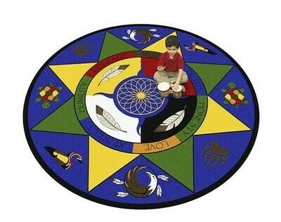 Medicine Wheel/Seven Teachings Carpet