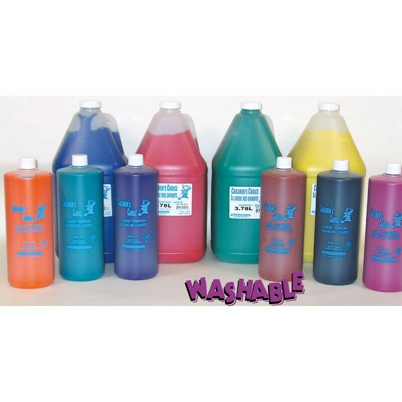 Classroom Liquid Washable Tempera Paints - (Various Sizes)