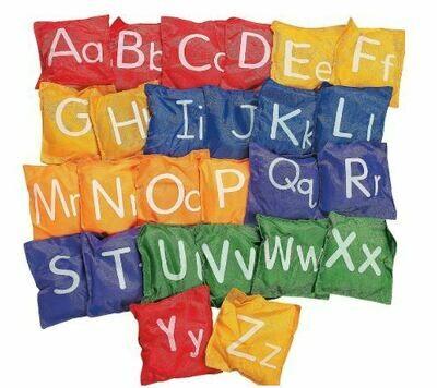 Full Size Alphabet Bean Bags - 26 Pk