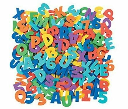 Adhesive Letters & Numbers - 504pcs