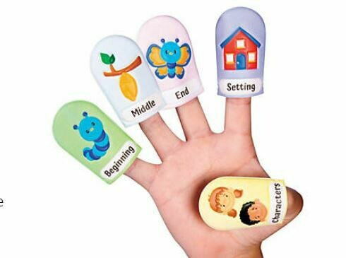 Reading Retelling Puffy Finger Puppets-5Pk