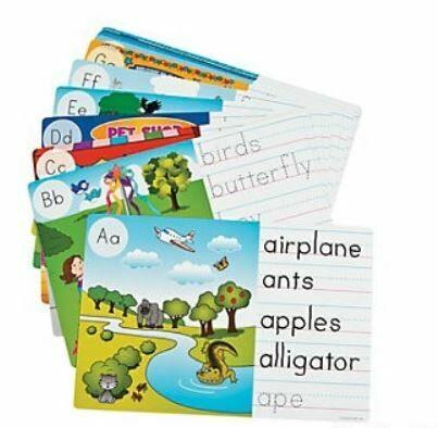 Image Hunt & Write Dry Erase Cards - 26pcs