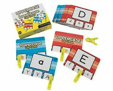 Uppercase & Lowercase Clip Cards