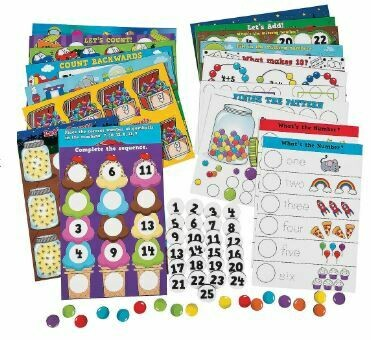 Number & Counting Magnetic Large Mats Set - 65pc