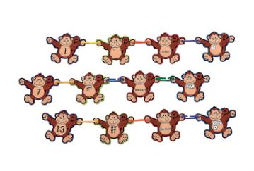 Monkey Math Linking Game - 180 pcs