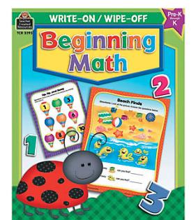 Write On, Wipe Off Beginning Math Book