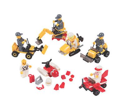 Vehicle Building Block Kits - 12Pk