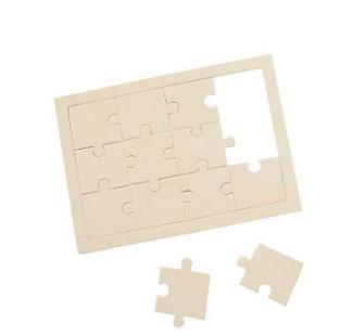 "Unfinished Wood DIY 5"" x 7"" Puzzle - 12Pk"
