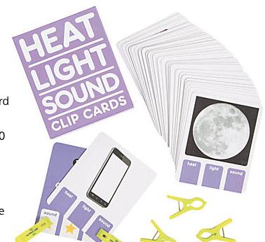 Heat, Light & Sound Clip Cards