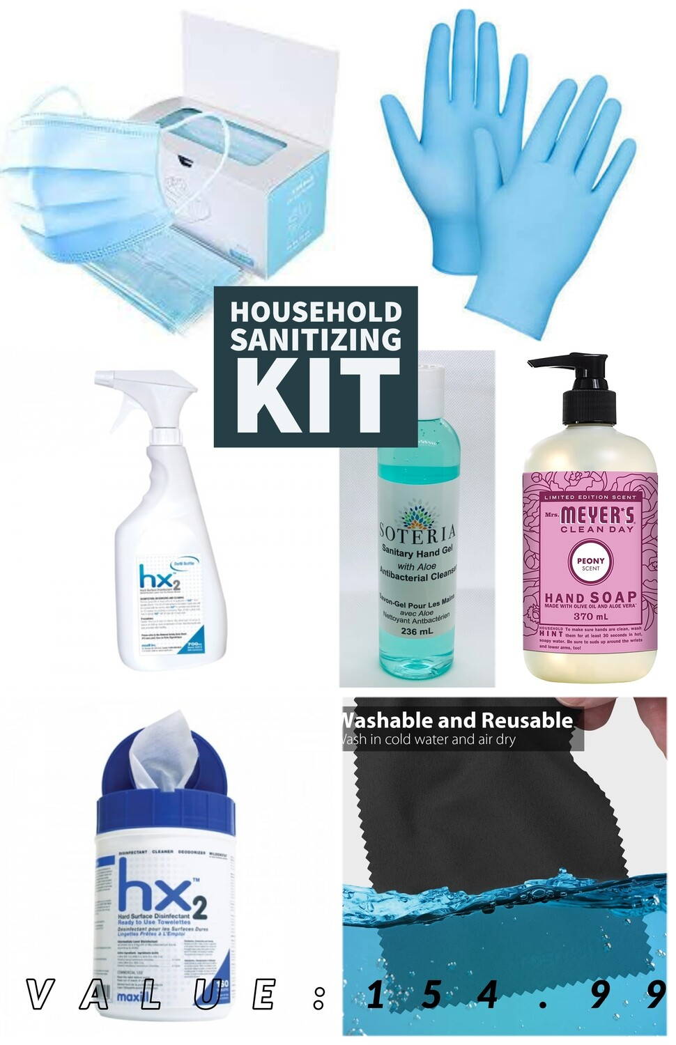 Office Sanitizing Kit (7 ITEMS)