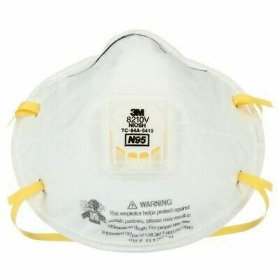 3M 8210V Particulate Respirator, N95 (Options)