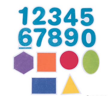 Felt Numbers & Shapes - 16Pk