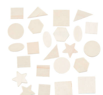 DIY Bulk Unfinished Wood Shapes-500Pk